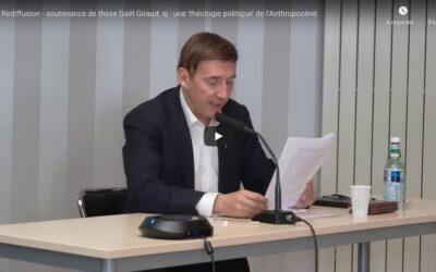 Vidéo | Soutenance de thèse de Gaël Giraud, «Composer un monde en commune – une théologie politique de l'Anthropocène»