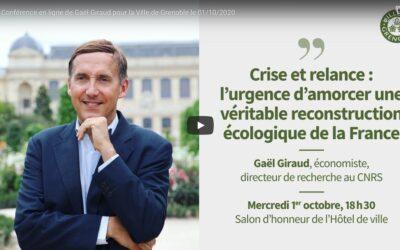 Vidéo | Crise et relance, l'urgence d'amorcer une véritable reconstruction écologique de la France