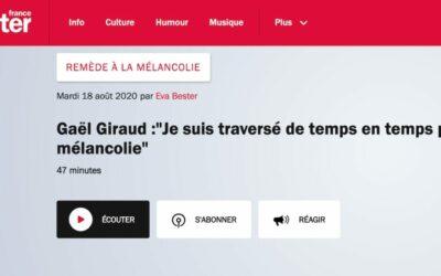 Podcast | Gaël Giraud : «Je suis traversé de temps en temps par la mélancolie»| France Inter
