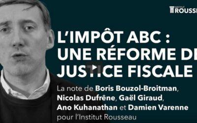 Gaël Giraud : L'impôt ABC, une réforme de justice fiscale