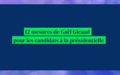 12 mesures pour les candidats à la présidentielle