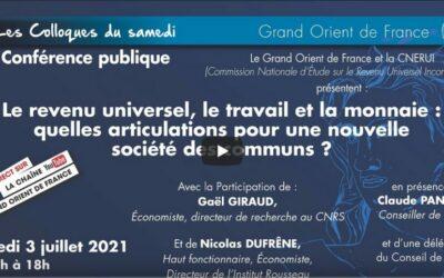 Vidéo | Le revenu universel – Grand Orient de France