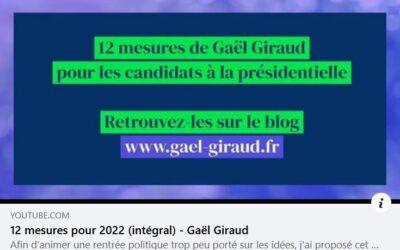 12 mesures pour 2022 (intégral) – Gaël Giraud | Vidéo